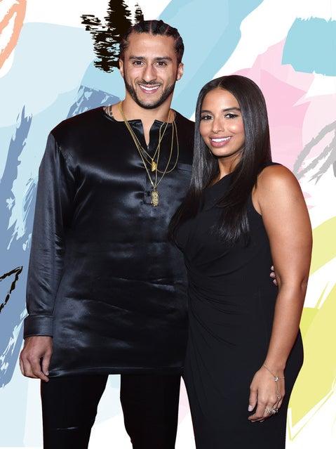 Colin Kaepernick with partner Nessa Diab