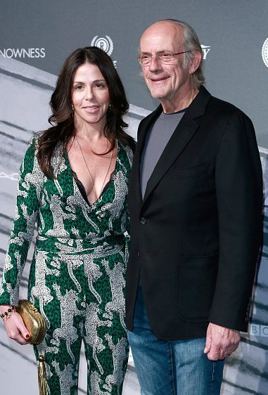 Christopher Llyod with his wife, Lisa