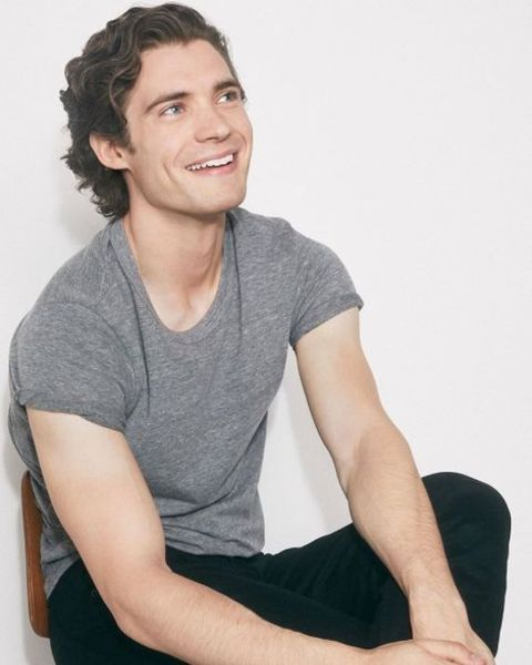 David Corenswet giving a pose in a photoshoot.