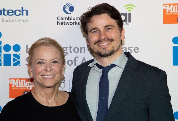Nancy Morgan and son Jason Ritter