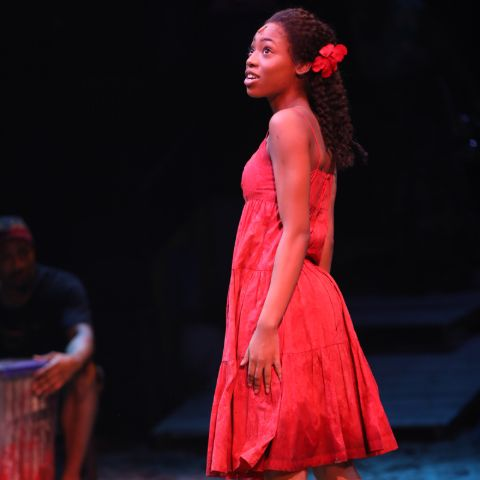 Hailey Kilgore clicked while performing in a play.