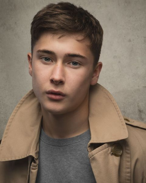 Samuel Bottomley giving a pose in a photoshoot.