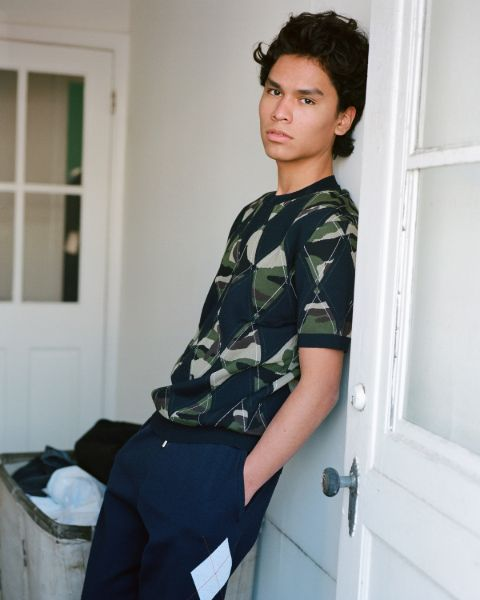 Forrest Goodluck giving a pose in a photoshoot.