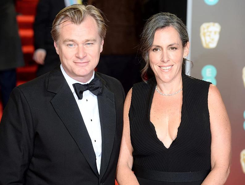 Christopher Nolan with his wife, Emma Thomas