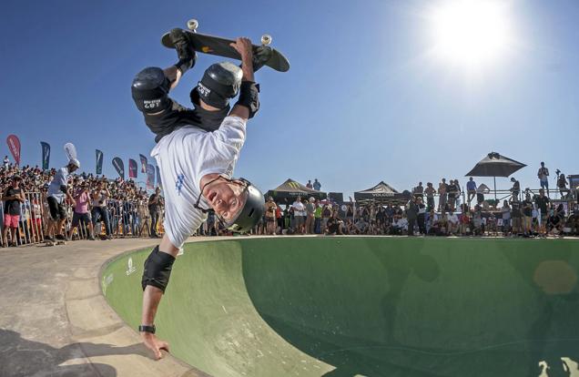 Tony Hawk, first skateboarder to land a 900