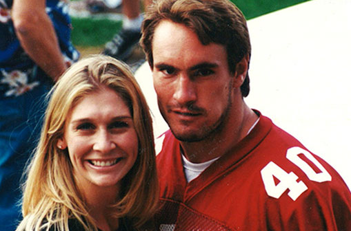 Pat Tillman With His Wife, Marie