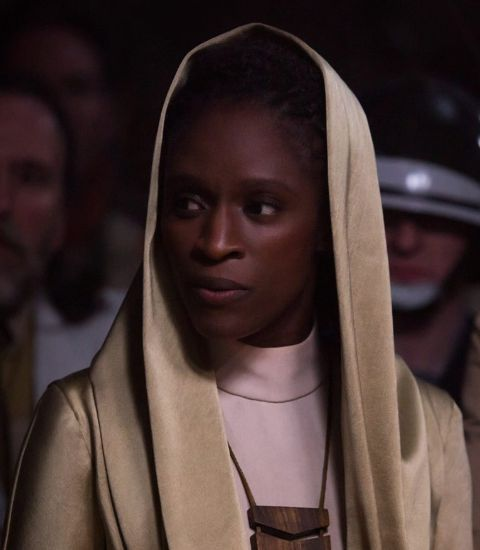 Sharon Duncan-Brewster clicked during acting in the film Rogue One.