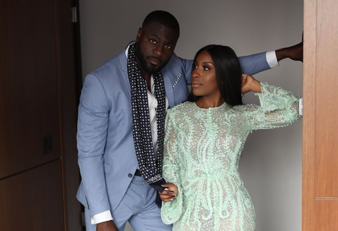 Jackie with her fiance Denis Asamoah