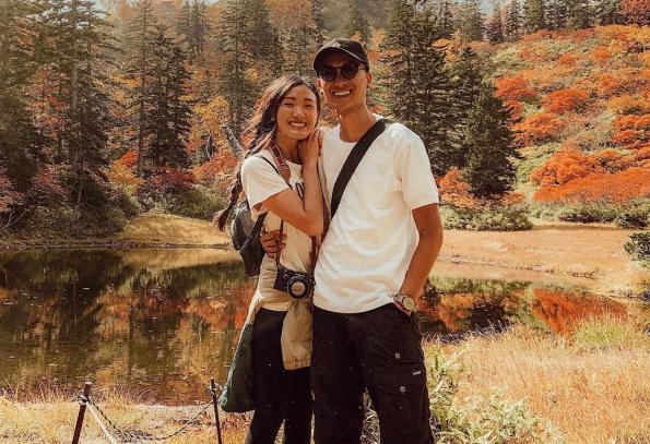 Weylie Hoang and boyfriend Wah