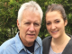 Emily Trebek with her father
