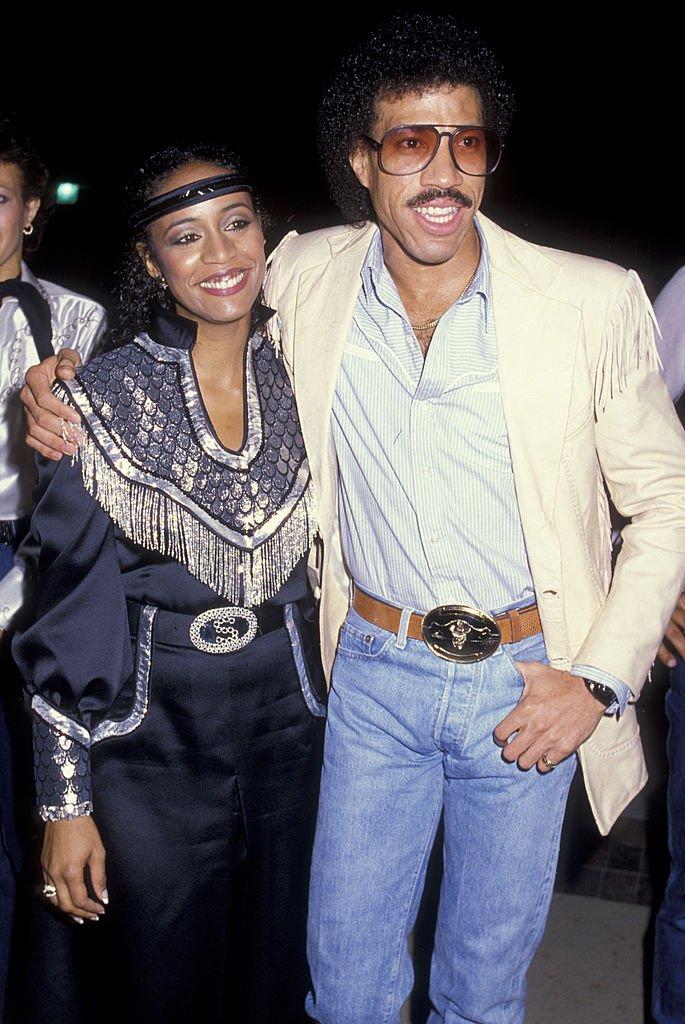 Brenda Harvey Richie with  Lionel Richie