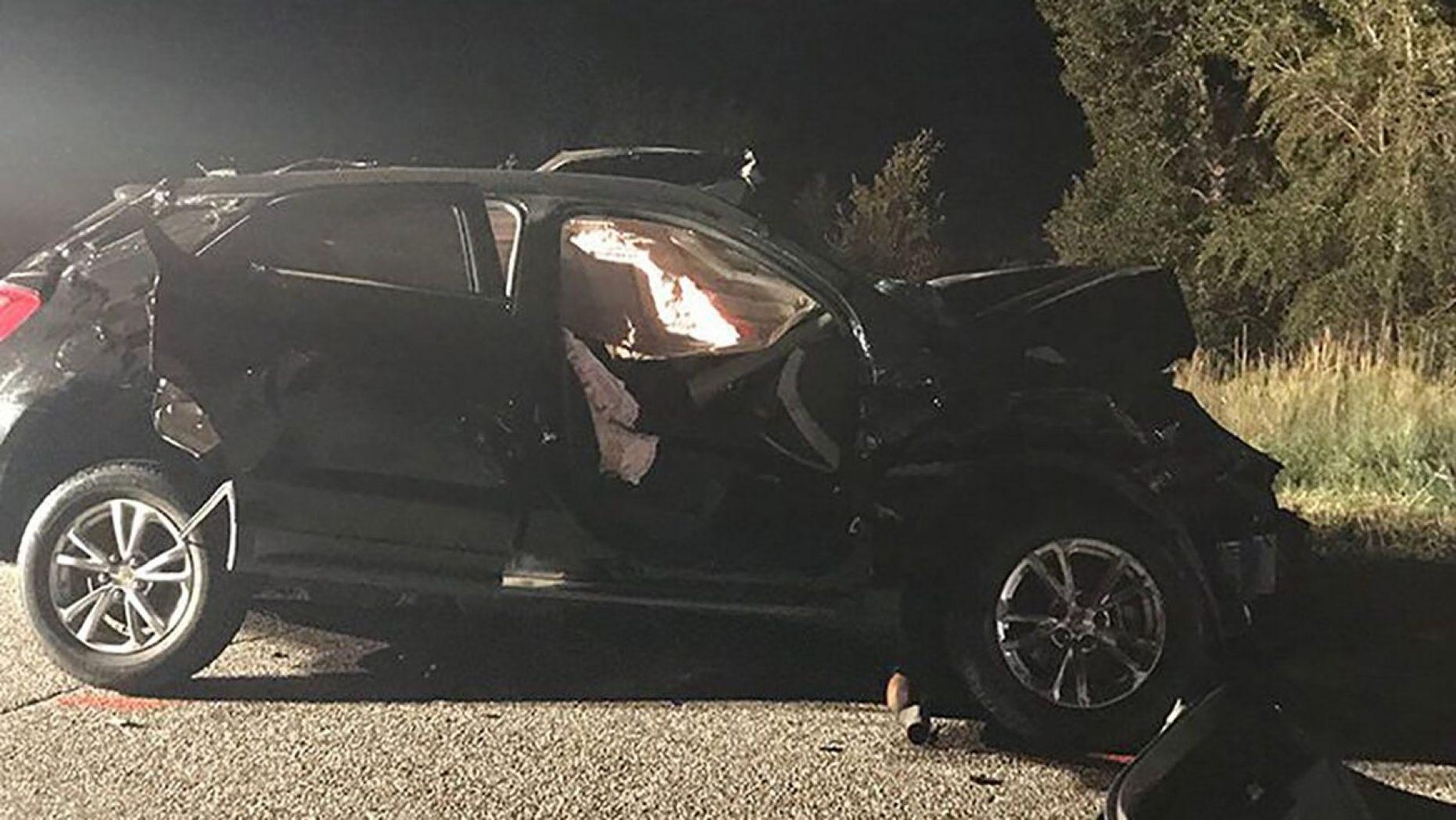 Harris's car accident