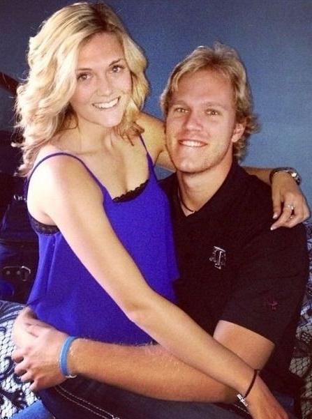 Noah Syndergaard with his ex-girlfriend, Ellen Kramer