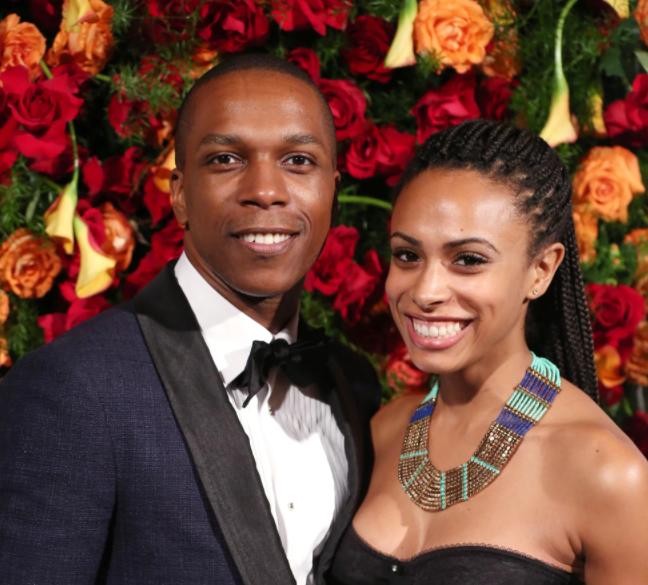 Leslie Odom Jr. with his wife, Nicolette Kloe Robinson