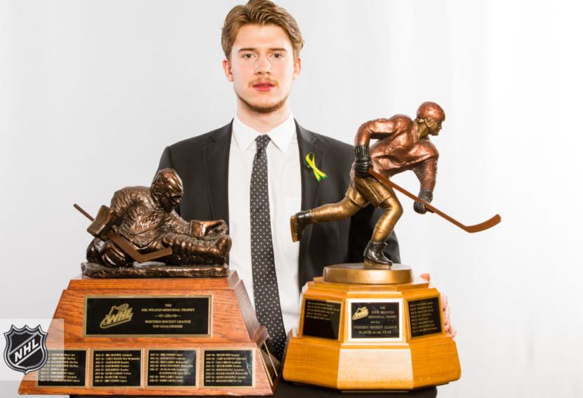 Carter Hart With Awards