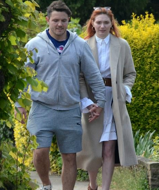 Eleanor Tomlinson with her boyfriend, Will Owen