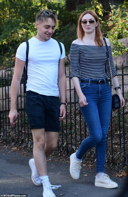 Eleanor Tomlinson with her brother Ross Tomlinson