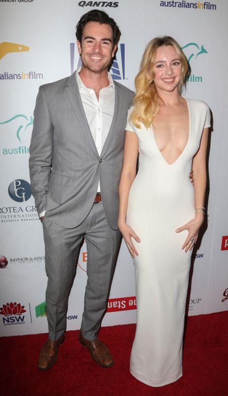 Ben Lawson with her former girlfriend Harriet Dyer