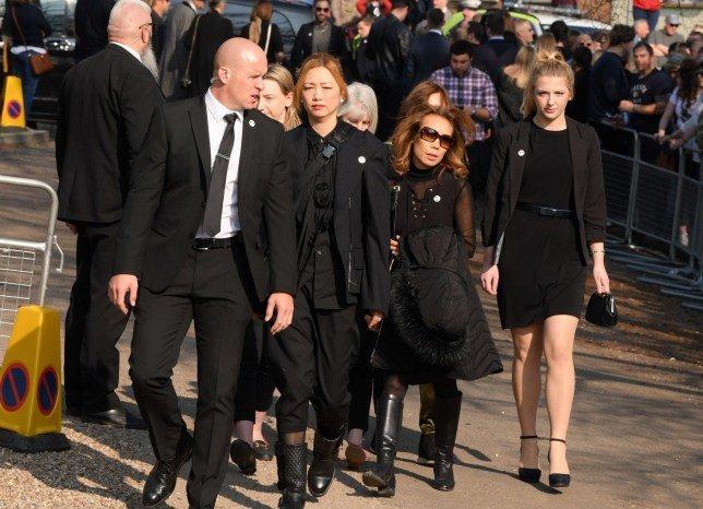 Mayumi Kai at the funeral of keith flint