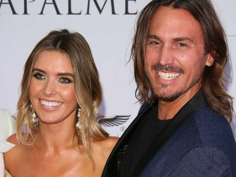 Corey Bohan and Audrina Patridge caught in the camera during a public event.