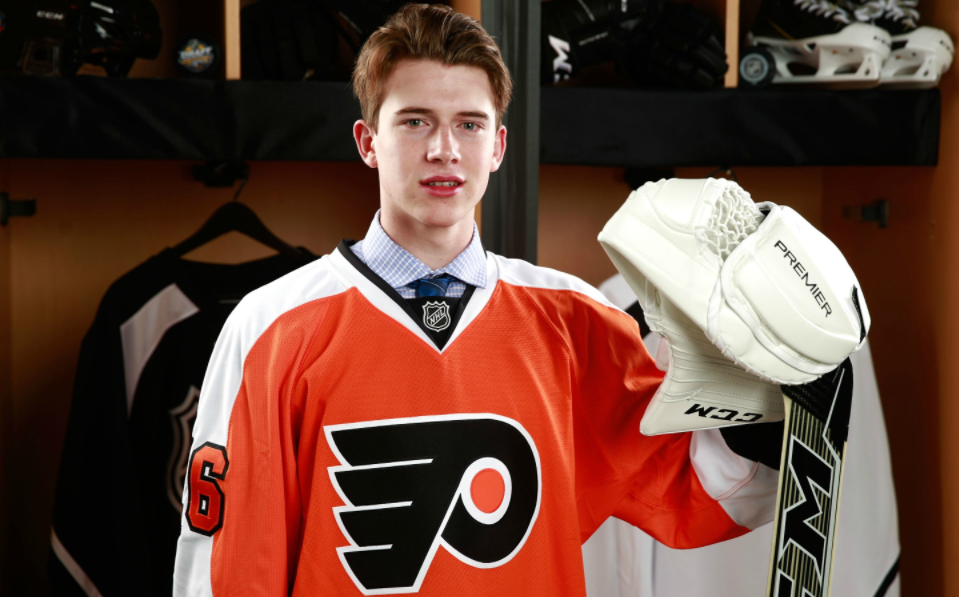 Carter Hart, a professional Ice Hockey player
