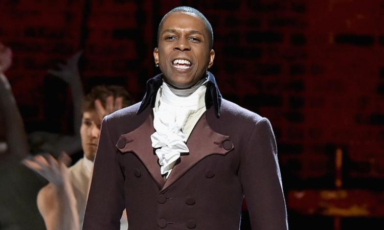 Leslie Odom Jr. in Hamilton as Aaron Burr