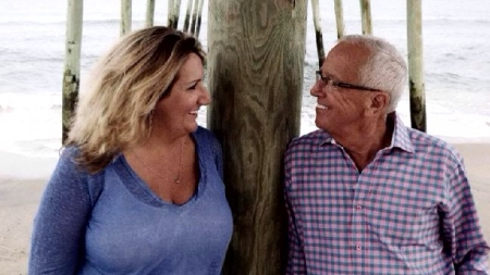 Polly Brennaman poses a picture with husband Thom..