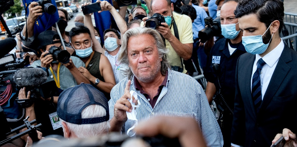 Steve Bannon arrested and charged with fraud in We Build the Wall Campaign