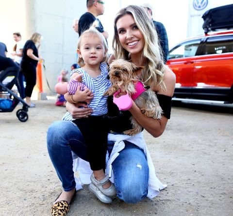 Kirra Max Bohan and her mother Audrina Patridge pose for a picture.