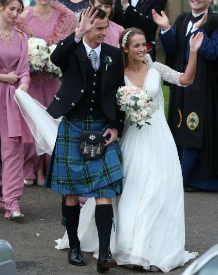 Kim Sears and Andy Murray at their marriage