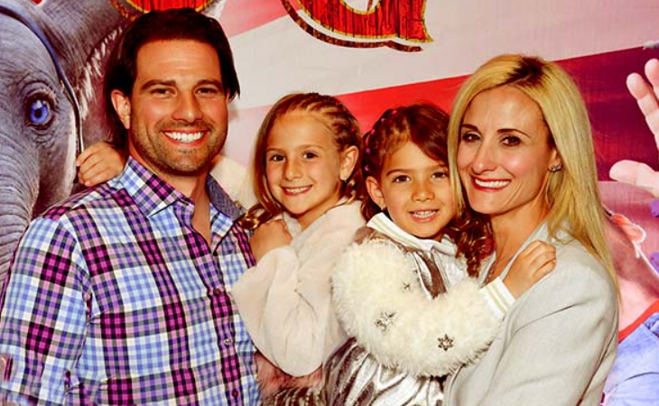 Scott McGillivray with his wife, Sabrina and their daughters