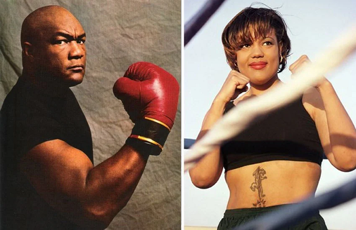 George Foreman to the left and Freeda Foreman to the right