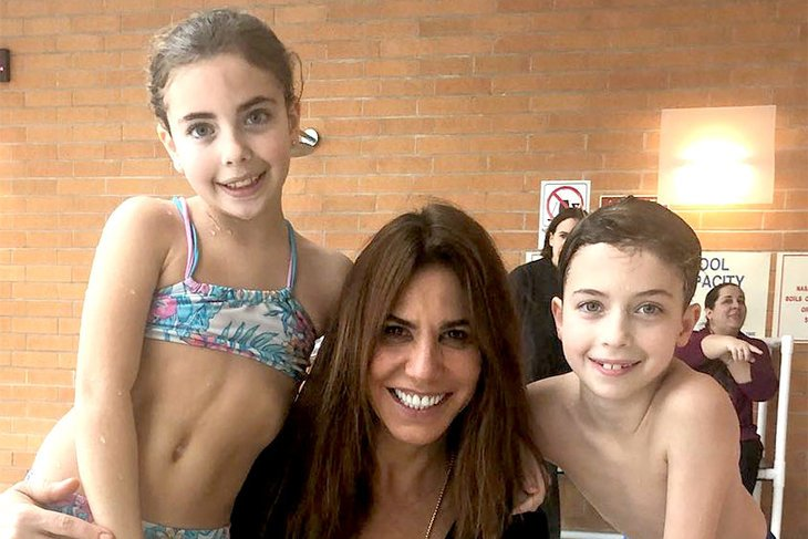 Cindy Barshop with her twins