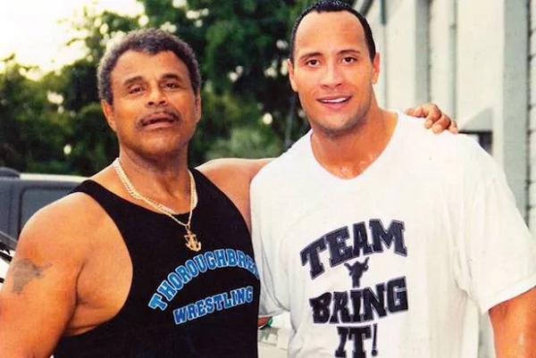 Rocky Johnson and Dwayne Johnson