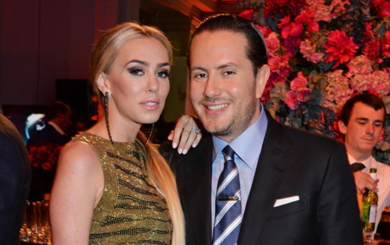 James Stunt and ex-wife Petra