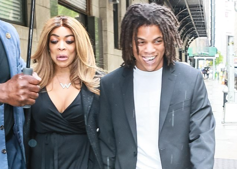 Kevin Hunter Jr with his mother Wendy Williams