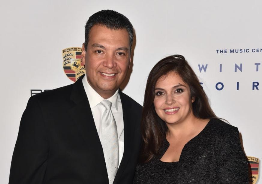 Alex Padilla and his wife, Angela Padilla