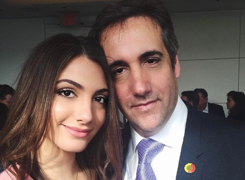Samantha Blake Cohen and father Michael Cohen