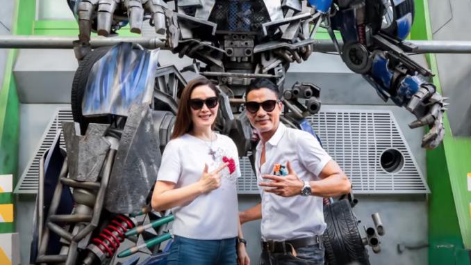 Sophia Kao and Simon Yam