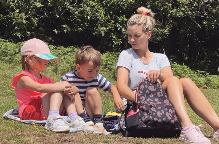 Ruth Crilly with her kids
