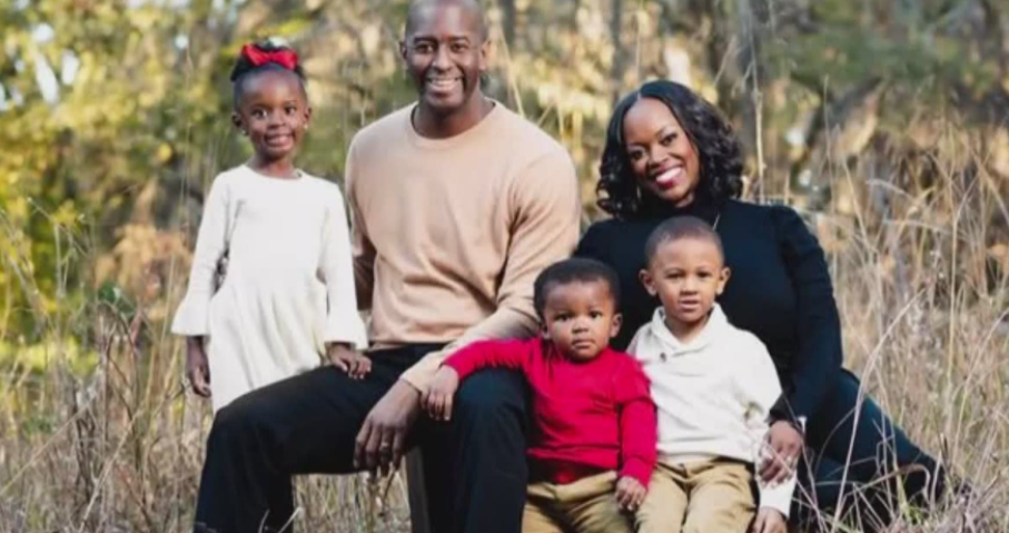 Andrew Gillum with his family