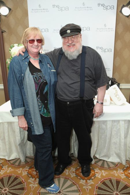 Parris McBride and her husband at a meet and greet event.