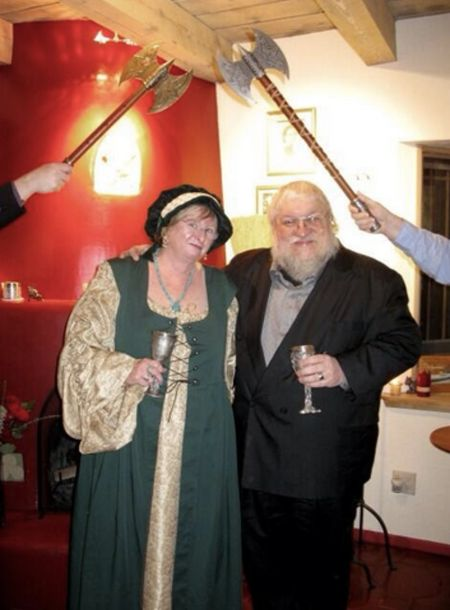 Parris McBride and her Husband George R. R. Martin on their wedding