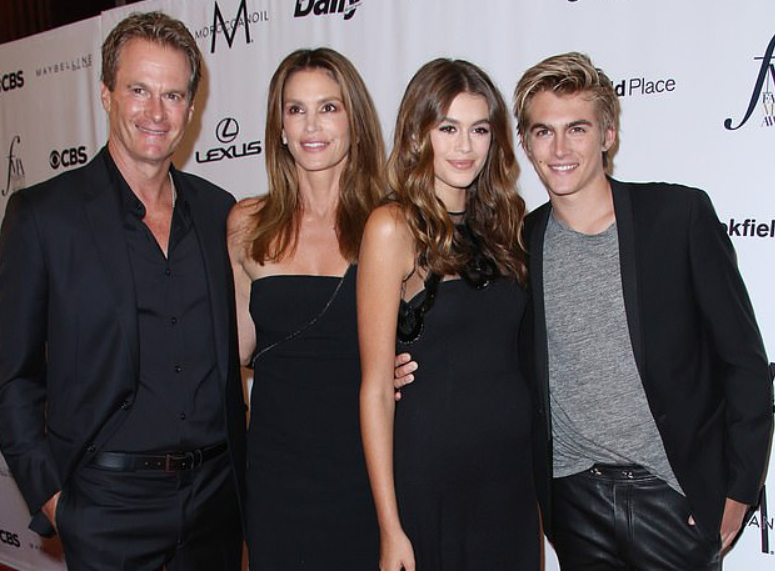 Presley Gerber with his family