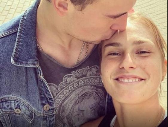 Aryna Sabalenka with her fiance Matvei Bozhko