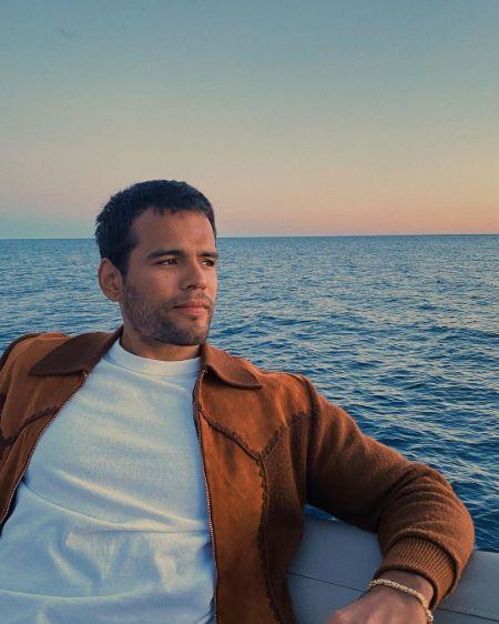 Jacob Scipio on his boat