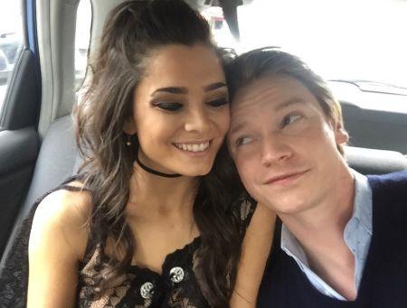 Calum Worthy with his Girlfriend Celesta DeAstis