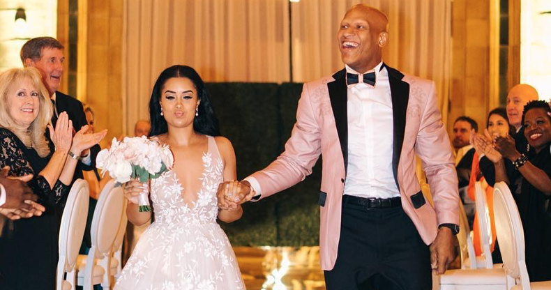 Ryan Shazier and wife Michelle Rodriguez