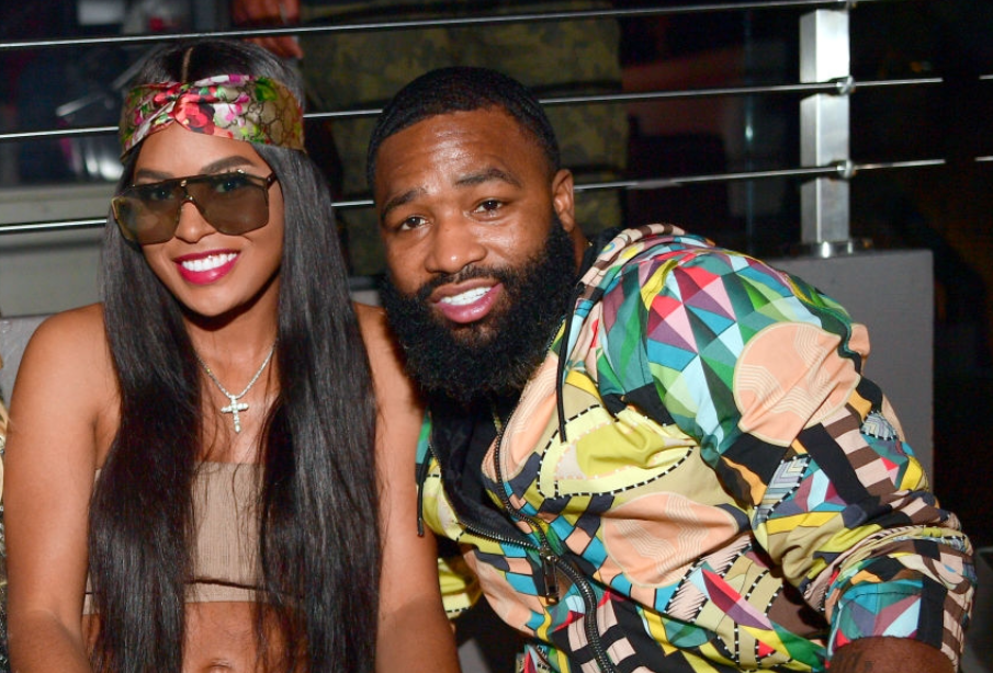 Adrien Broner and his wife, Arie Nicole