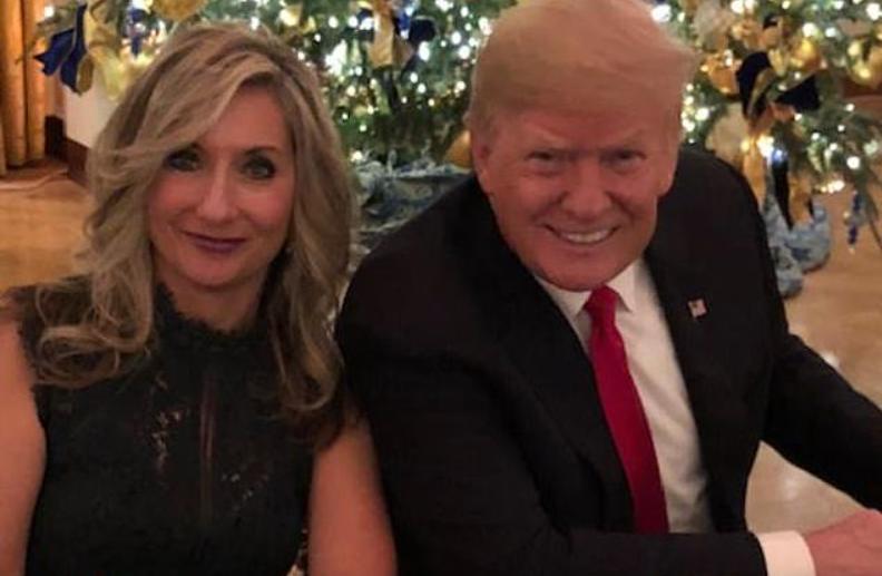 Darla Shine photographed with Trump